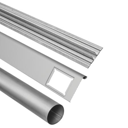 Profiler i galvaniseret stål eller prælakeret aluminium